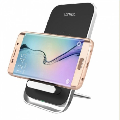 Vinsic VSCW106 Intellective Wireless Charger for iPhone Samsung Phone US Plug