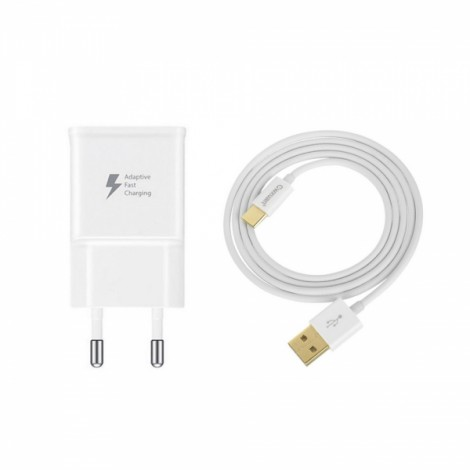 Cwxuan USB 5V/9V/Self-Adaptive Quick Charger + 3.1 Type C Data Cable White