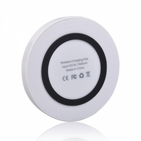 Q5 Qi Standard Mini Wireless Charger Pad Transmitter for Android iOS White & Black