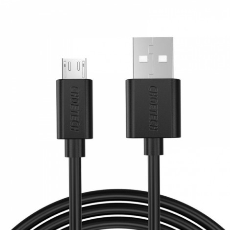 1M CHOETECH 5V 2.4A Micro USB 2.0 Fast Charging Data Cable for Mobile Phone and Tablets Black