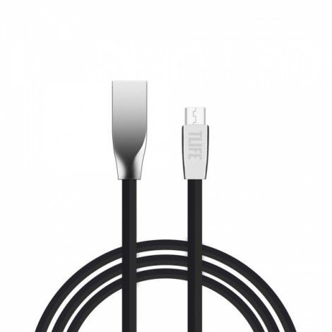 TLIFE 1m Flat Micro USB Charging Data Sync Cable for Android Devices Black