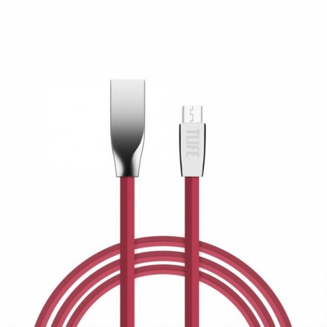 TLIFE 1.5m Flat Micro USB Charging Data Sync Cable for Android Devices Red