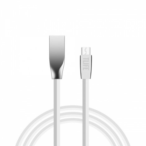 TLIFE 1m Flat Micro USB Charging Data Sync Cable for Android Devices White