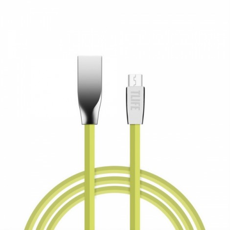 TLIFE 1m Flat Micro USB Charging Data Sync Cable for Android Devices Green