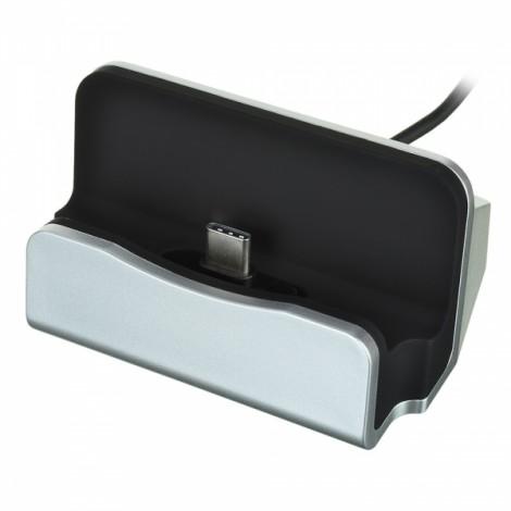 USB 3.1 Type-C Phone Data Sync Charging Dock - Silver