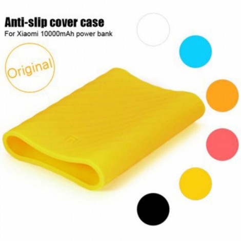 Original Protective Silicone Cover Case for Xiaomi 10000mAh Power Bank Yellow