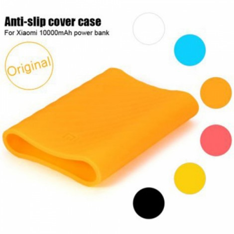 Original Protective Silicone Cover Case for Xiaomi 10000mAh Power Bank Orange