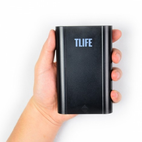 TLIFE Intelligent Portable 4 Slots 18650 Battery Mobile Power Bank Charger Black