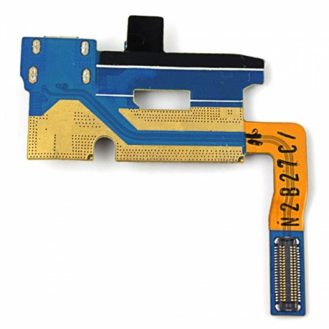 Replacement Part Micro USB Power Charging Port Flex Cable for Samsung Galaxy Note2 N7100 Black & Silver