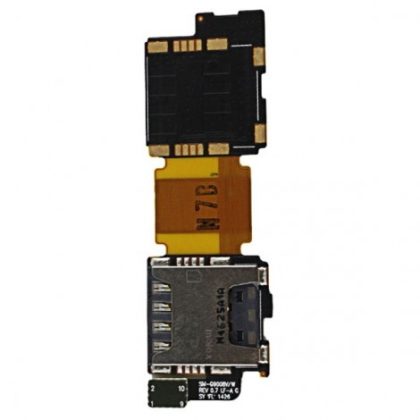 Replacement Part Inner SIM Card SD Reader Flex Cable for for Samsung Galaxy S5 i9600 G900F