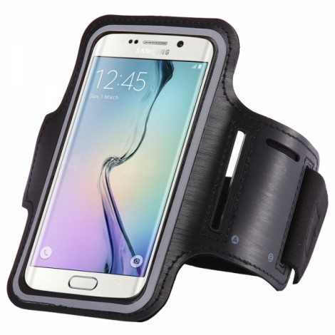 Sports Gym Running Armband Pouch Case for Samsung Galaxy S7 Edge Black