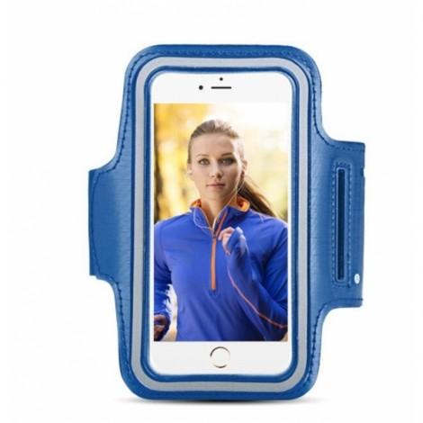 Sports Gym Running Armband Pouch Case for Samsung Galaxy S7 Edge Dark Blue
