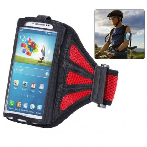 Running Gym Sport Mesh Armband Case for Samsung Galaxy S3/4/5/6/Edge Red