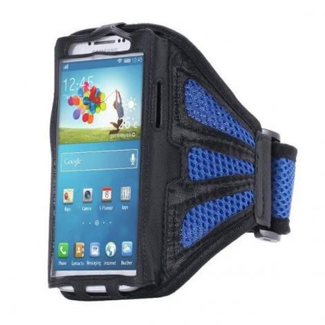 Running Gym Sport Mesh Armband Case for Samsung Galaxy S6 Edge Plus Dark Blue
