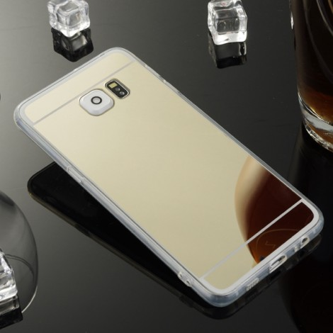 Mirror Case Back Cover for Samsung Galaxy S7 Golden