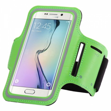 Sports Gym Running Armband Pouch Case Cover Bag for Samsung Galaxy S6 Edge Plus Green