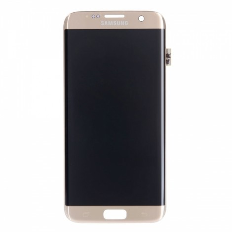 Curved LCD Screen and Touch Screen Assembly for Samsung Galaxy S7 G935A G935V G935P G935T G935F (Logo Printed) Golden