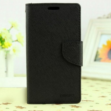 MERCURY Card Slot Wallet Magnetic Flip Leather Phone Case for Samsung Galaxy S8 Plus Black