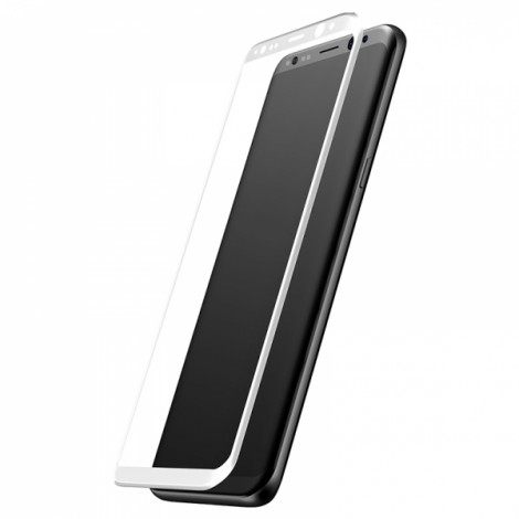 Baseus 3D Surface Explosion-Proof Screen Protector Front Protective Film for Samsung Galaxy S8 Plus White