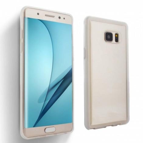 Anti-Gravity Magic Selfie Sticky Nano Protective Shockproof Case for Samsung S7 Edge - White