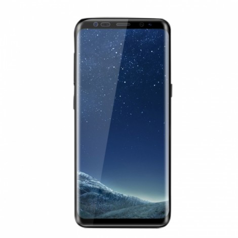 Full 3D Curved Tempered Glass Screen Protector 9H Nano Coating Protective Film for Samsung Galaxy S8 - Clear