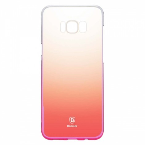 Baseus Hard Transparent Full Case Cover for Samsung Galaxy S8 Pink