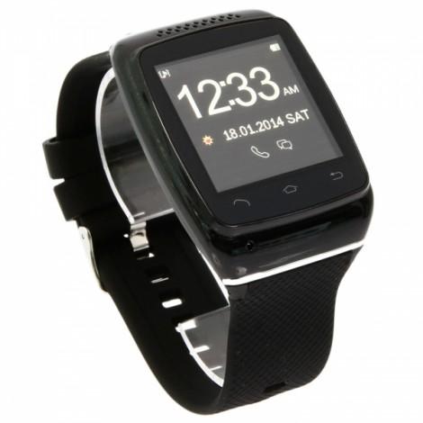 S12 New Stylish Anti-lost Touch Screen Bluetooth V4.0 Smart Watch Black