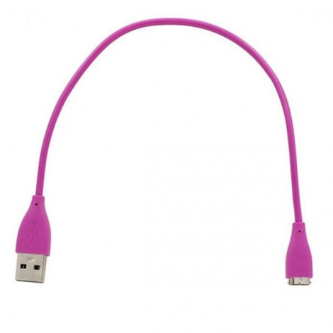 USB Charging Cable for Fitbit Charge HR Smart Wristband Purple
