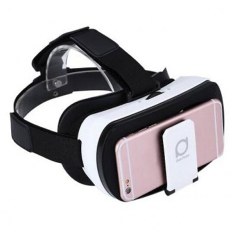 """Deepoon V3 Virtual Reality 3D VR Glasses Private Theater with Romote Controller for 3.5 - 6.0"""" Smartphone White & Black"""