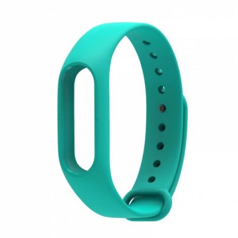 Smart Replacement Silicone Wrist Strap Wristband Bracelet for XIAOMI MI Band 2 Cyan