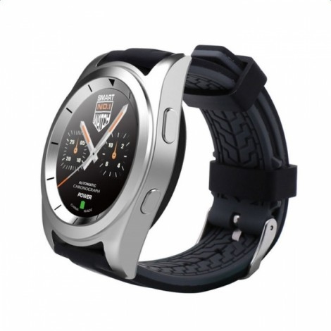 NO.1 G6 Heart Rate Monitor Fitness Tracker Call SMS Reminder Bluetooth 4.0 Smart Watch for Android iOS Silicone Band Silver