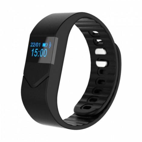 Pro M5 Blood Pressure/Oxygen Heart Rate Monitor Fitness Tracker Bluetooth Smart Wrist Band Bracelet Black
