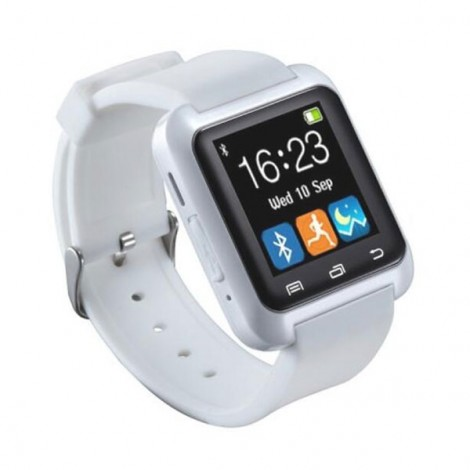 U80 Smart Bluetooth Watch Call Message Reminder Sleep Monitor White