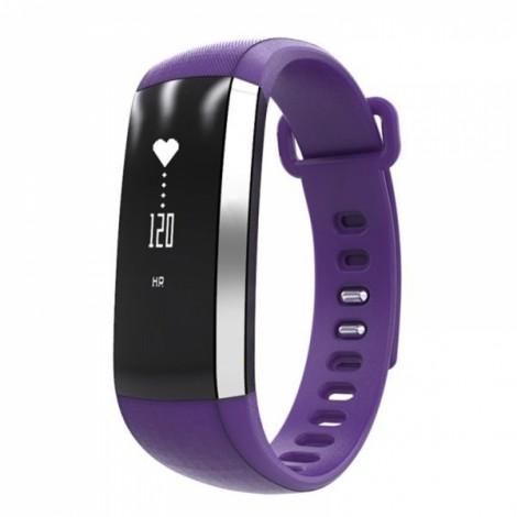 IP67 Waterproof Oximeter Blood Pressure Heart Rate Monitor Bluetooth Sport Smart Bracelet Watch Purple
