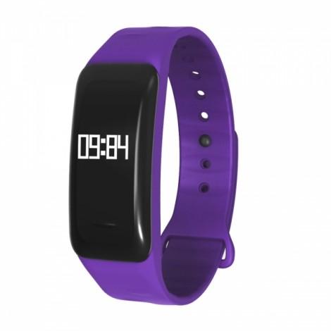 C1 Intelligent Blood Pressure Heart Rate Monitor Fitness Sports Bracelet Purple