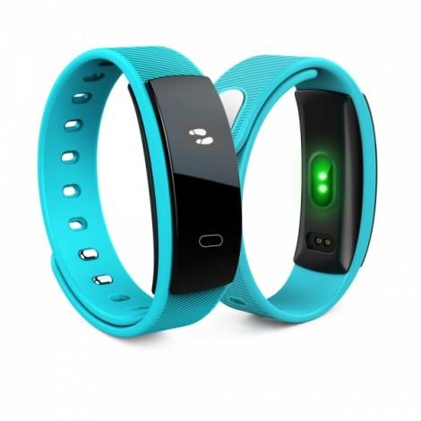 QS80 Intelligent Blood Pressure Heart Rate Blood Oxygen Fitness Sports Bracelet Blue