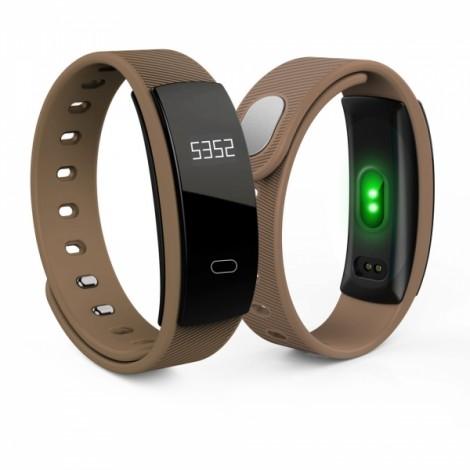 QS80 Intelligent Blood Pressure Heart Rate Blood Oxygen Fitness Sports Bracelet Coffee