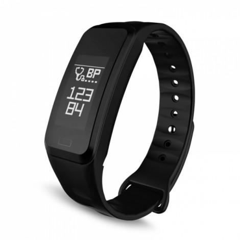 Waterproof Blood Pressure Heart Rate Smart Bracelet Black