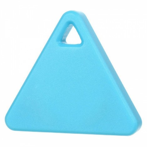 Triangle Bluetooth Smart Mini Tag Tracker Pet Child Wallet Key Finder GPS Locator Alarm Blue