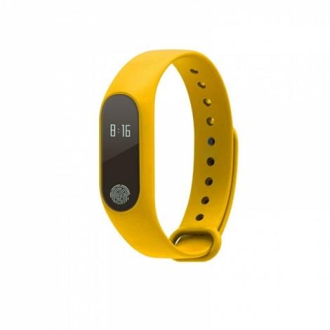 M2 Heart Rate Blood Pressure Health Monitoring Sport Smart Bracelet Yellow