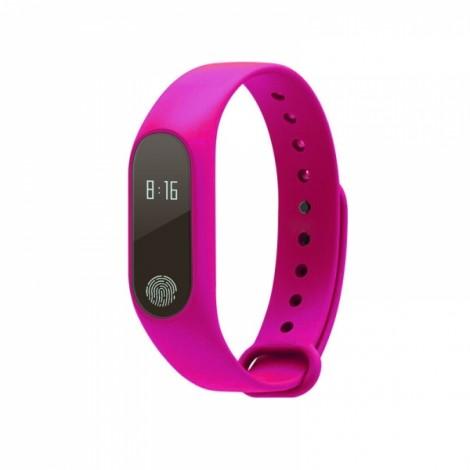 M2 Heart Rate Blood Pressure Health Monitoring Sport Smart Bracelet Pink