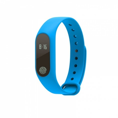 M2 Heart Rate Blood Pressure Health Monitoring Sport Smart Bracelet Blue