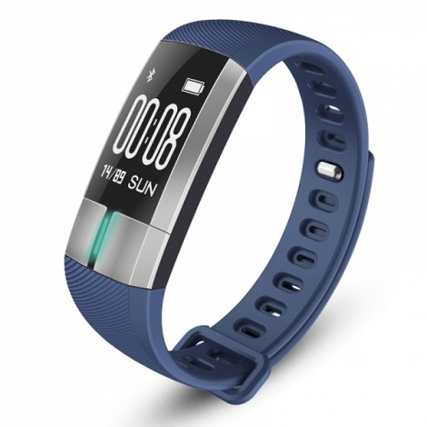 G20 Heart Rate Running Temperature Blood Pressure Monitoring Waterproof Smart Bracelet Blue