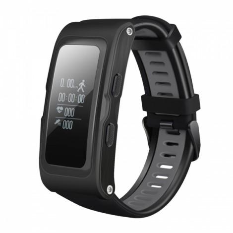 T28 GPS Track Record Heart Rate Health Monitoring Smart Bracelet Black