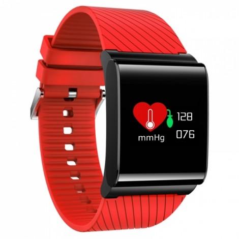 X9pro Touch Bright OLED Screen Smart Sport Bracelet Heart Rate Blood Oxygen Watch Red