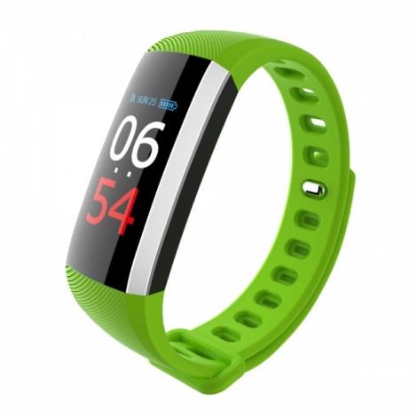G19 Color Screen Heart Rate Blood Pressure Pedometer Smart Bracelet Green