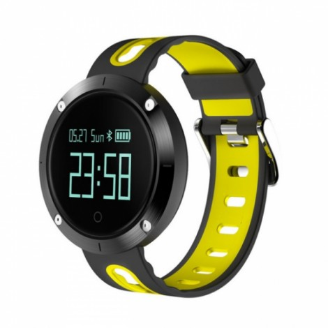 DM58 Smart Bracelet Wristband Blood Pressure/Heart Rate Monitor Band- Black Yellow