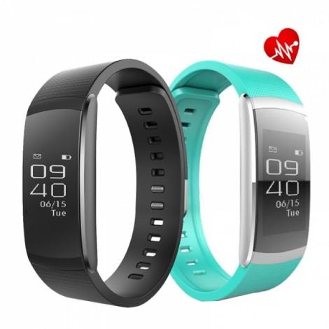iWOWNfit i6 Pro Fitness Tracker Heart Rate Monitor Smart Watch - Black