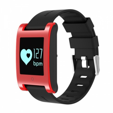 DM68 Blood Pressure Heart Rate Monitor Smart Band Fitness Tracker Watch - Red
