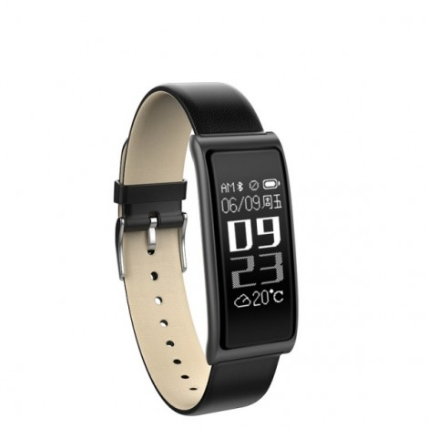 C9s Heart Rate Smart Touch Screen Bracelet Watch for Android IOS - Black